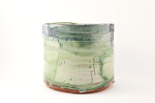 Barry Stedman - Medium Vessel With Green