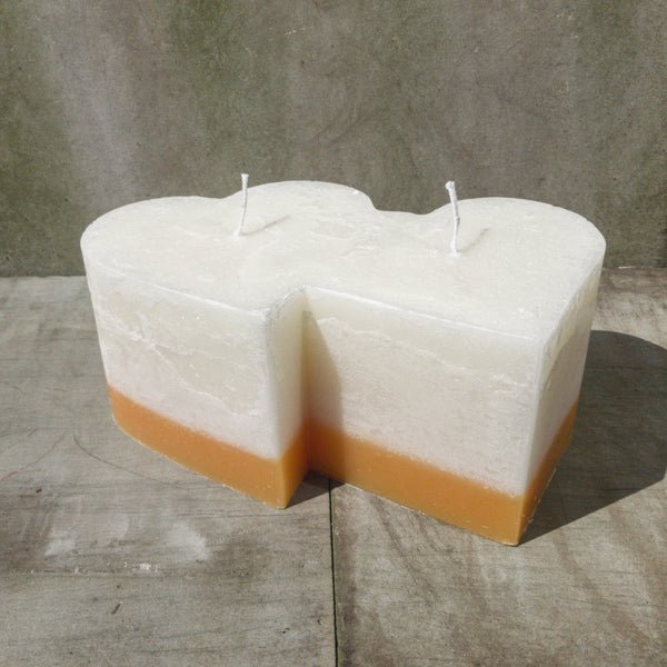 Double Heart candle - Ginger and Lime scented
