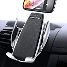 IR Intelligent Sensing Wireless Car Charger, Air Vent Automatic Clamping, 10W Fast Charging Compatible for iPhone and Samsung