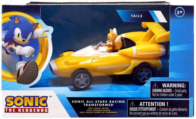 "Sonic Transformed All-Stars Racing Pull Back Action: Tails 5"" inches"