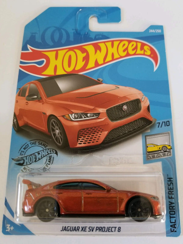 Hot Wheels 2019 Factory Fresh Jaguar XE SV Project 8 244/250, Orange