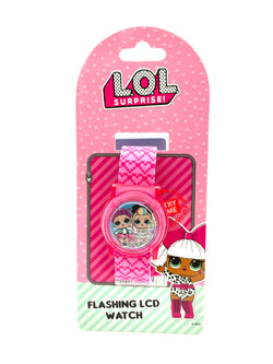 L.O.L. SURPRISE! Pink Flashing LCD Watch