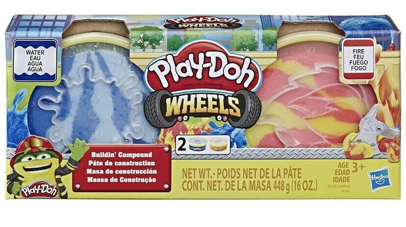 Play-Doh Wheels Cement and Pavement Buildin' Compound 2-Pack of 8-Ounce Cans (Variety Colors)