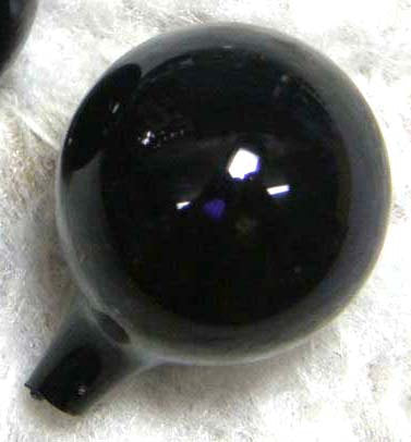 Animal Globe Eyes Black blown glass full round animal eyes - One Pair 13mm, 18mm, 20mm or 22mm
