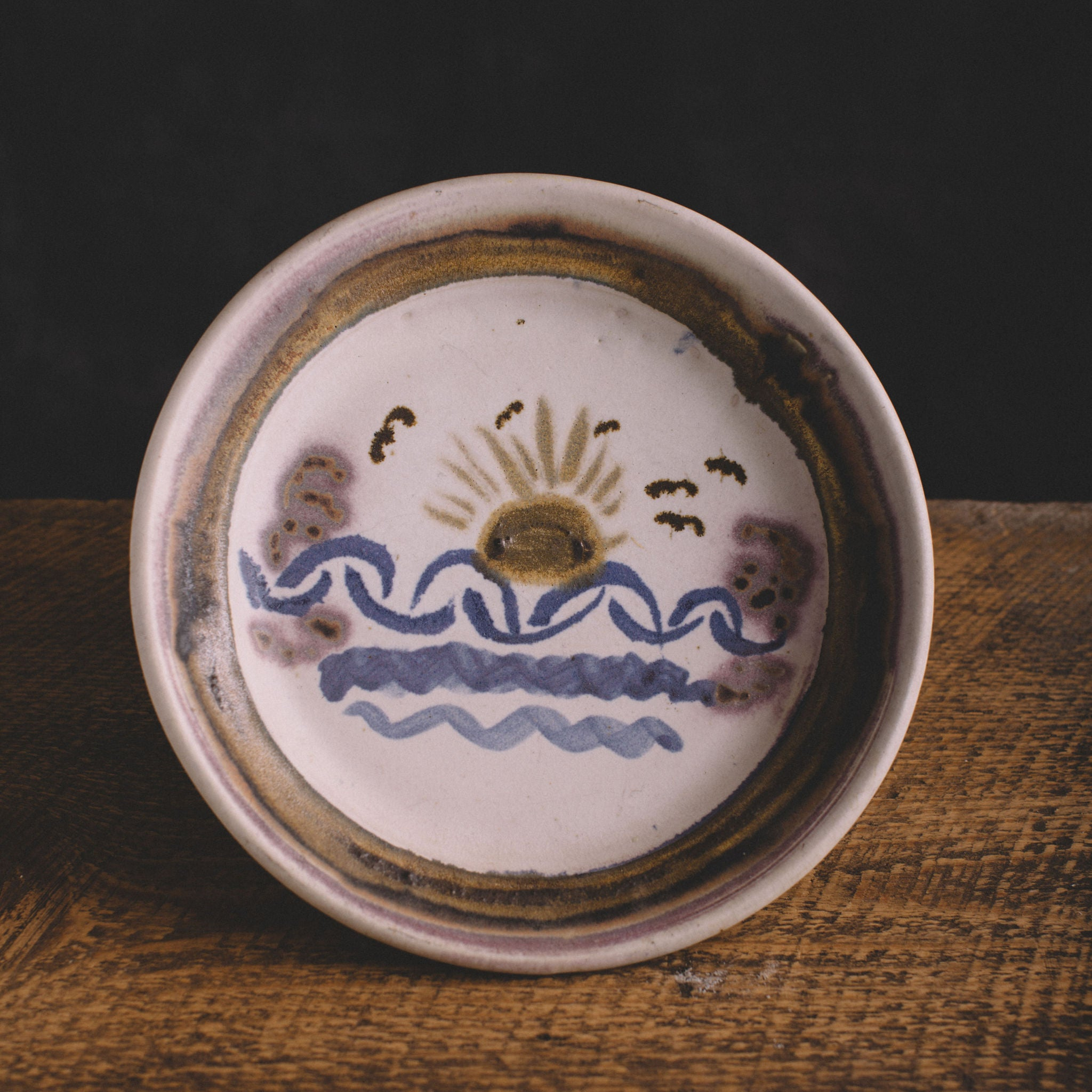 VINTAGE || SUNSET CERAMIC PLATE