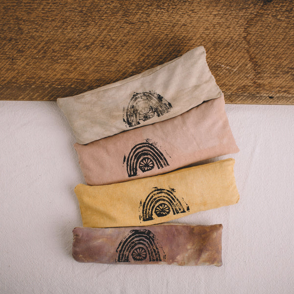 INVISIBLE PRACTICES || RAW SILK LAVENDER EYE PILLOW