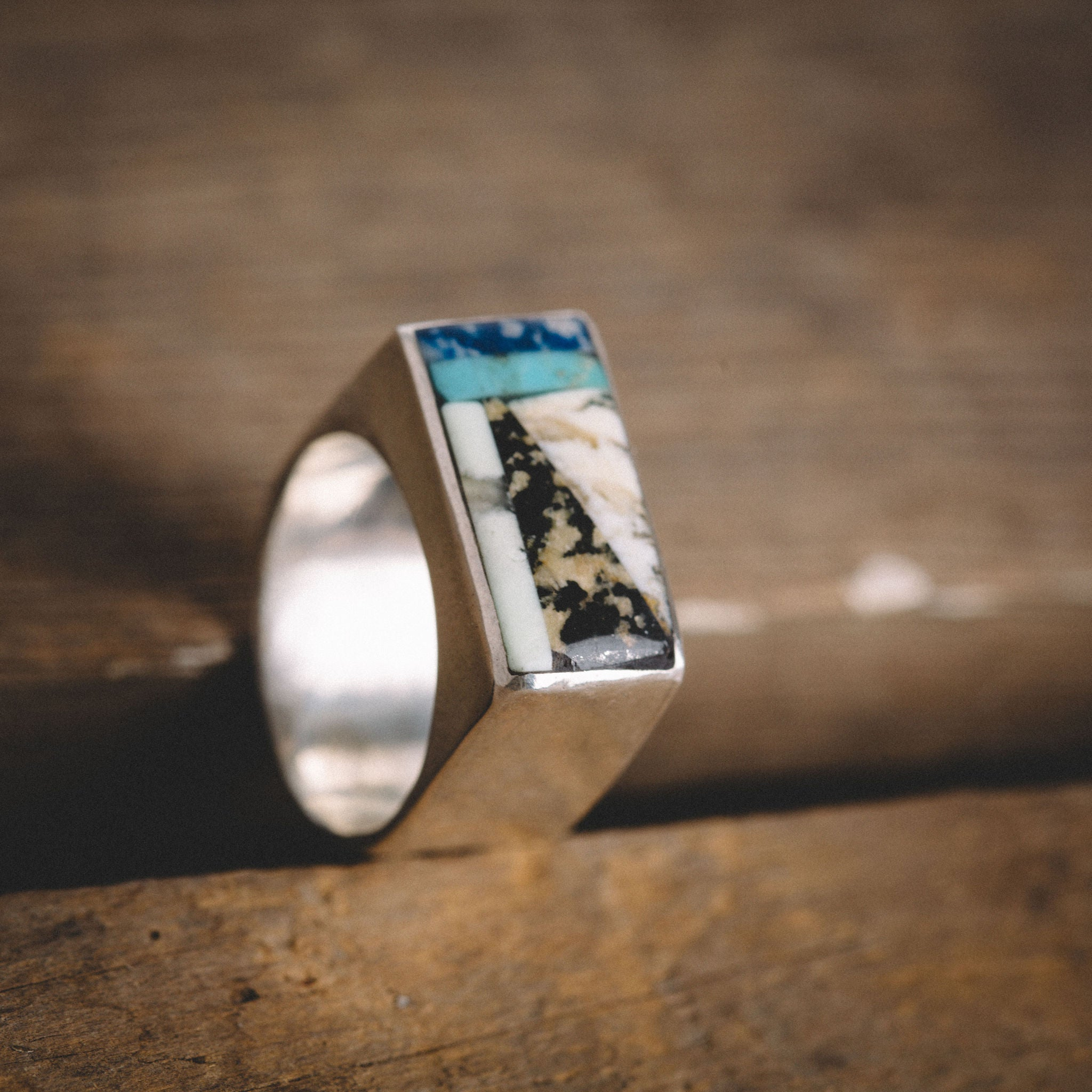 SEAPONY COUTURE || ANGLED RECTANGLE RING