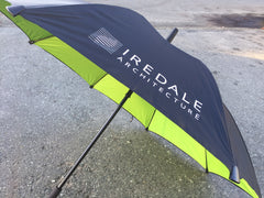 custom logo printed Iredale Architecture umbrella