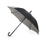 Double Cover Classic Long Umbrella with Striped Interior