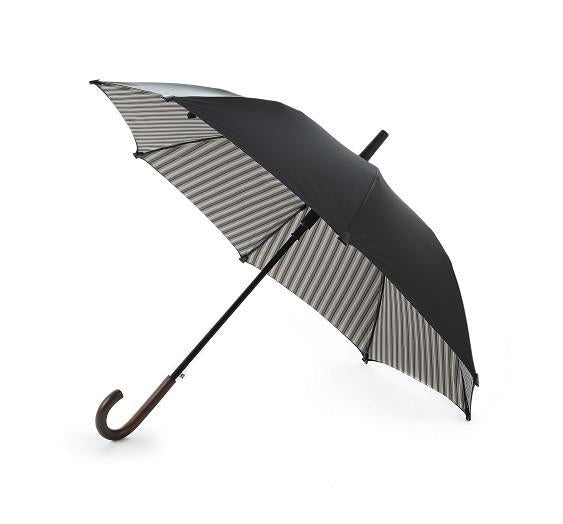 Striped Interior Double Cover Classic Long Umbrella