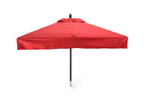Restaurant Fiberglass Square Patio Umbrella - 6 foot x 6 foot with valances