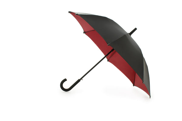 designer umbrella red interior long