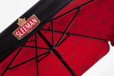 unique patio umbrella red interior sleeman brewery