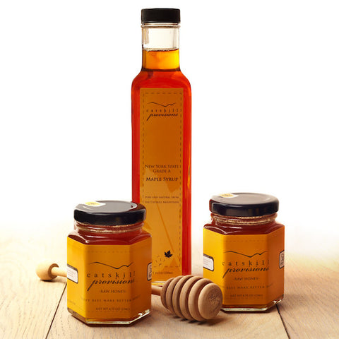 Honey and Maple Syrup Gift