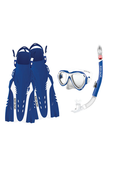 17042-L-BLUGRY Body Glove Azores Adult Dive Mask Blue//Gray Large Body Glove Wetsuit Co