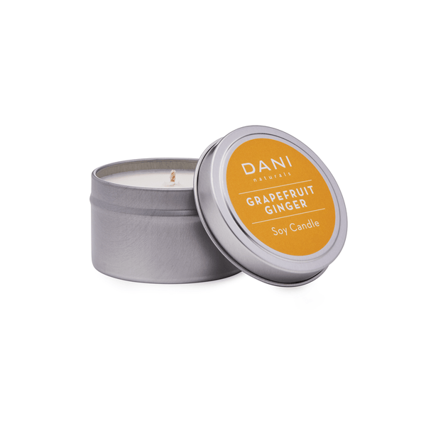 Grapefruit Ginger Scented Soy Candle Tin - 6 oz