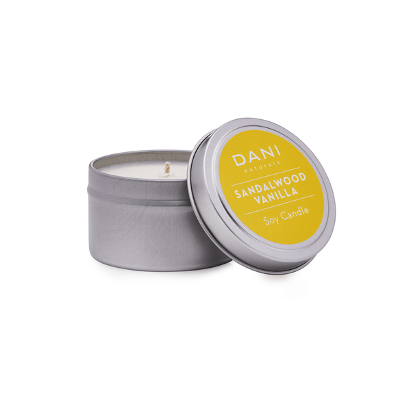 Sandalwood Vanilla Scented Soy Candle Tin - 6oz