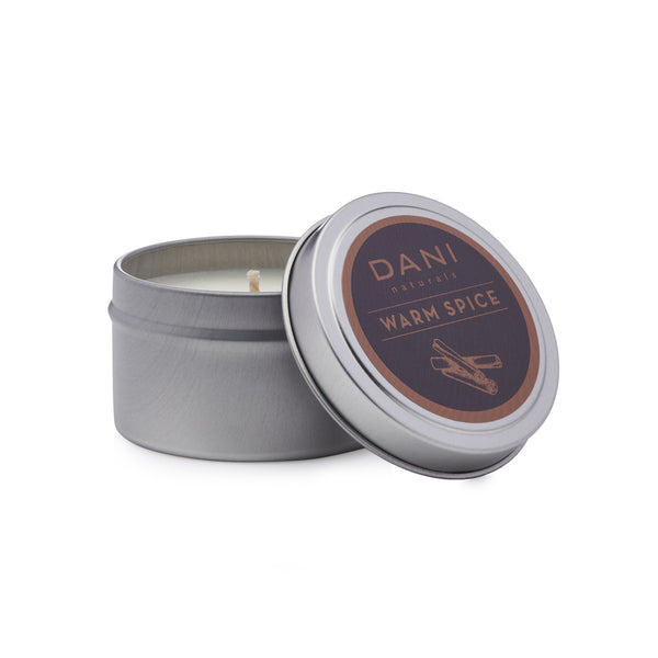Warm Spice Holiday Scented Soy Tin Candle - 6 oz