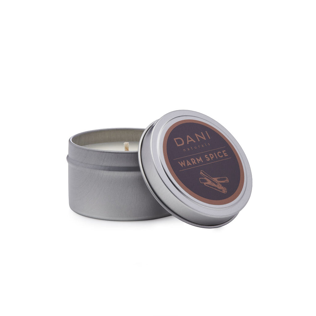 Warm Spice Holiday Scented Soy Travel Tin Candle - 2 oz