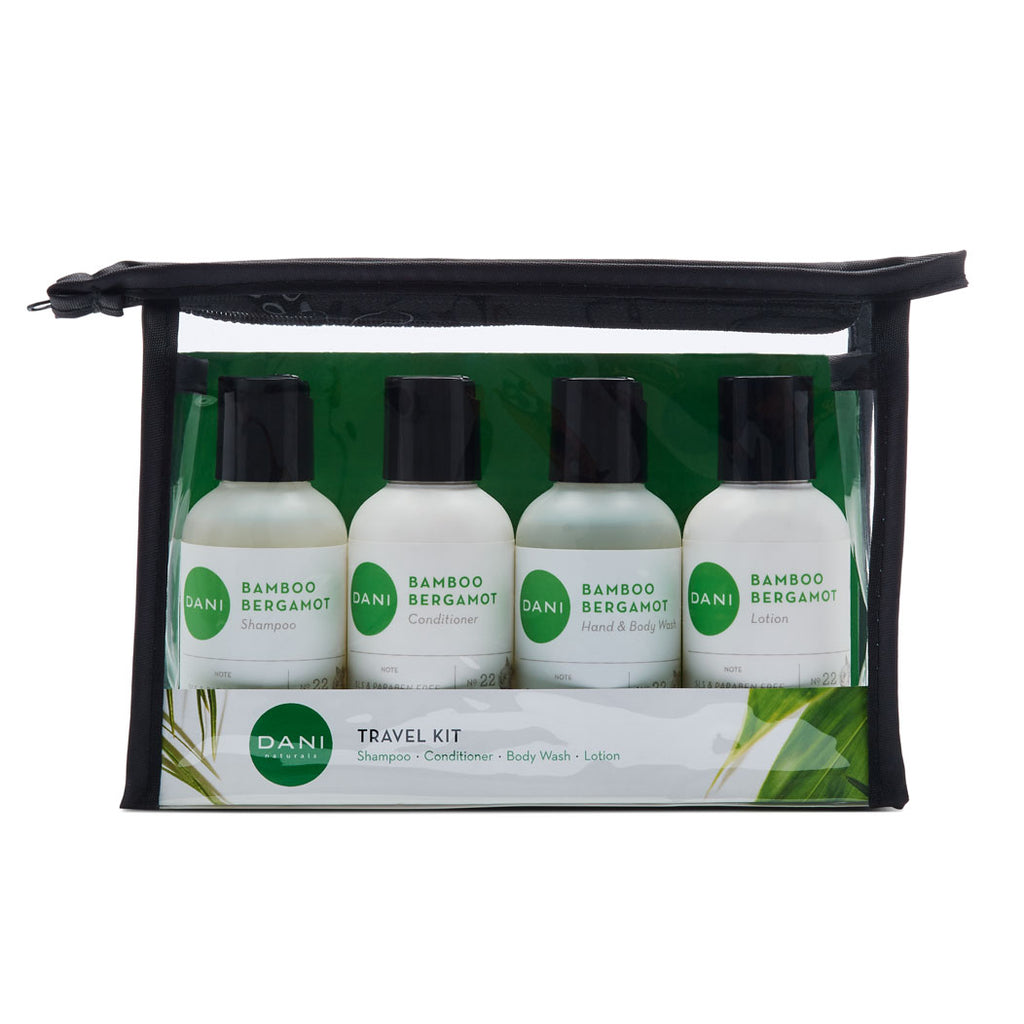 Bamboo Bergamot Travel Size Toiletries Kit