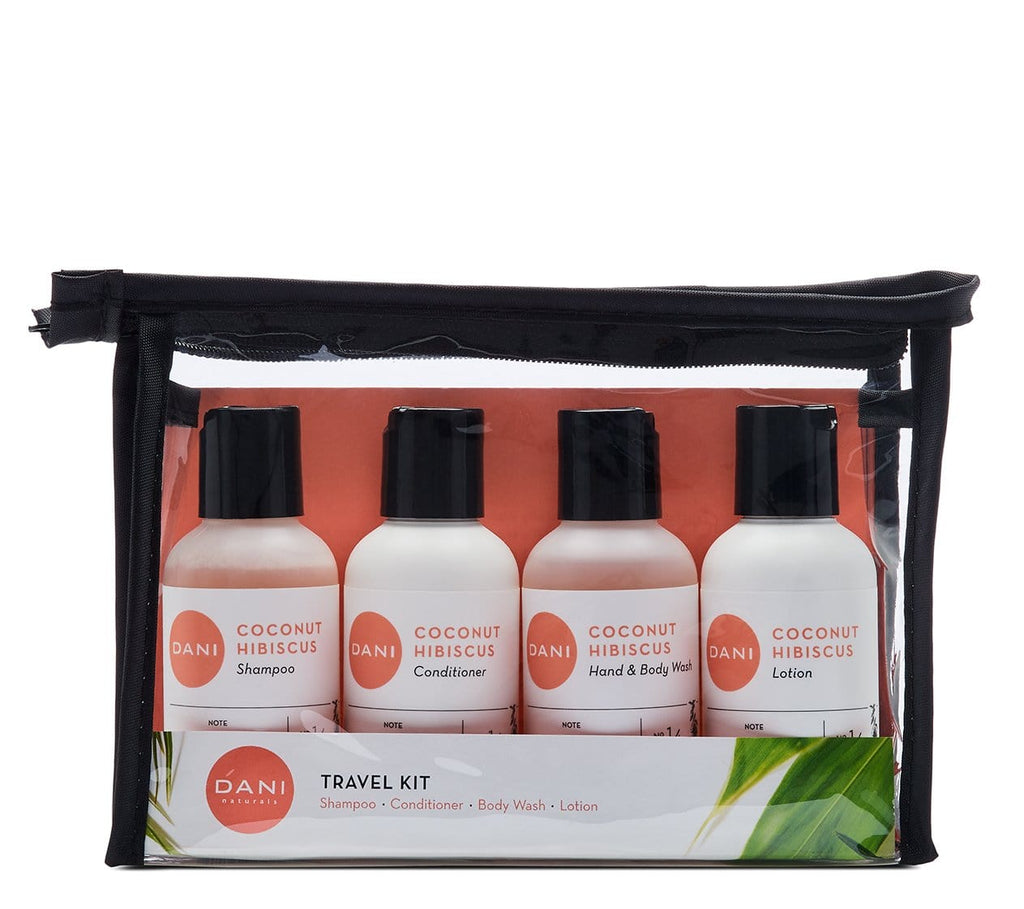 Coconut Hibiscus Travel Size Toiletries Kit - 4 x 2 oz