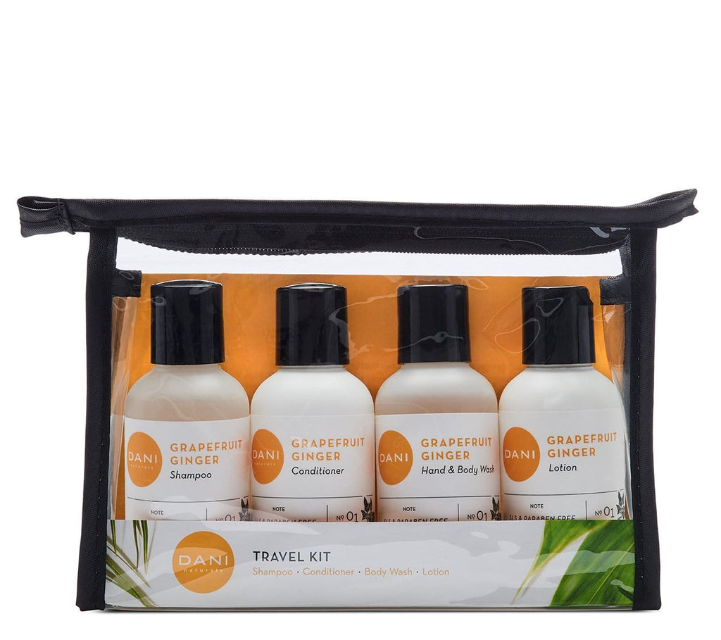 Grapefruit Ginger Travel Size Toiletries Kit - For Men & Women
