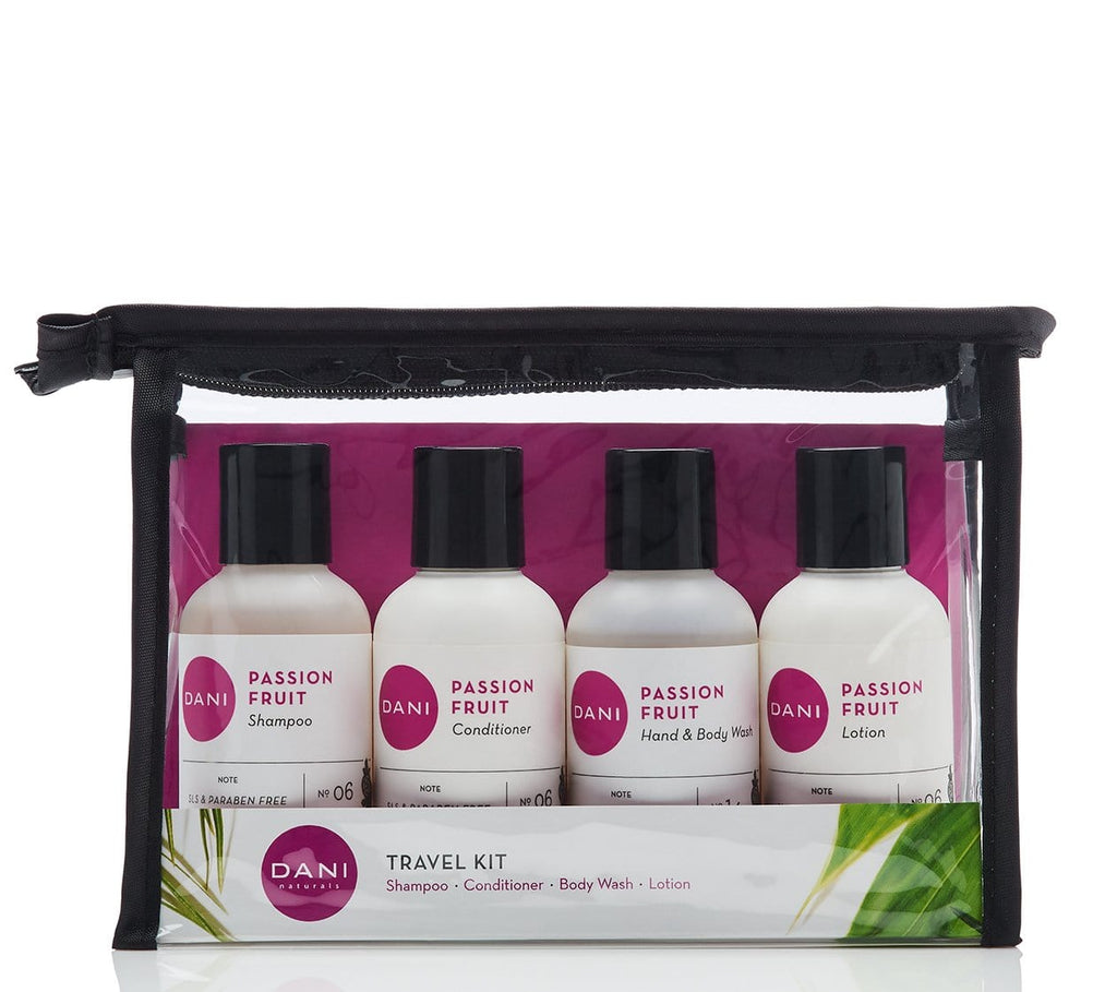 Passion Fruit Travel Size Toiletries Kit - 4 x 2 oz