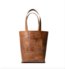 Load image into Gallery viewer, Tote - Distressed Brown