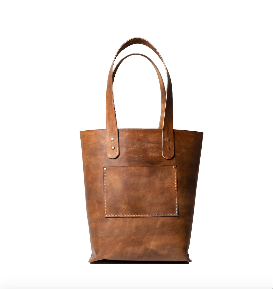 Tote - Distressed Brown