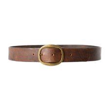 Load image into Gallery viewer, Belt - Antique Brown w/Brass Buckle