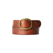 Load image into Gallery viewer, Belt - Saddle Tan w/Brass Buckle