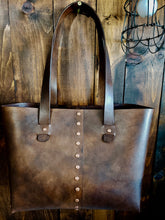 Load image into Gallery viewer, Rivet Tote Bag - Antique Brown