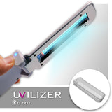 UVILIZER Razor - UV Light Sanitizer & Ultraviolet Sterilizer Wand (Foldable 3W UV-C Disinfection Bulb / Portable UVC Cleaner for Home, Car & Travel)