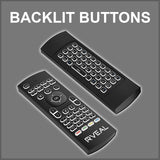 Rveal Backlit Air Mouse Remote & Keyboard