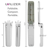UVILIZER Razor - UV Light Sanitizer & Ultraviolet LED Sterilizer Wand (Foldable 3W UV-C Disinfection Bulb / Portable UVC Cleaner for Any Surface)