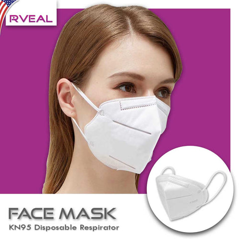 Face Mask - KN95 Disposable Respirator (Anti-Virus & Anti-Bacteria Protection, High-Quality Filtration)