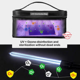 UVILIZER Bag (2 Pack) - UV Light Sanitizer & Ultraviolet Sterilizer Container (3.5W UV-C Disinfection Bulb / Portable UVC Cleaner For Any Object)