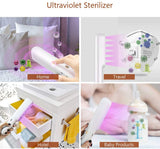 UVILIZER Extra | UV Light Sanitizer, Ultraviolet Disinfection Lamp, Powerful 7W UV-C Light Sterilizer Rechargeable Wand with USB Cable, Storage Pouch, Strap (2000 mAh Li-on Battery)