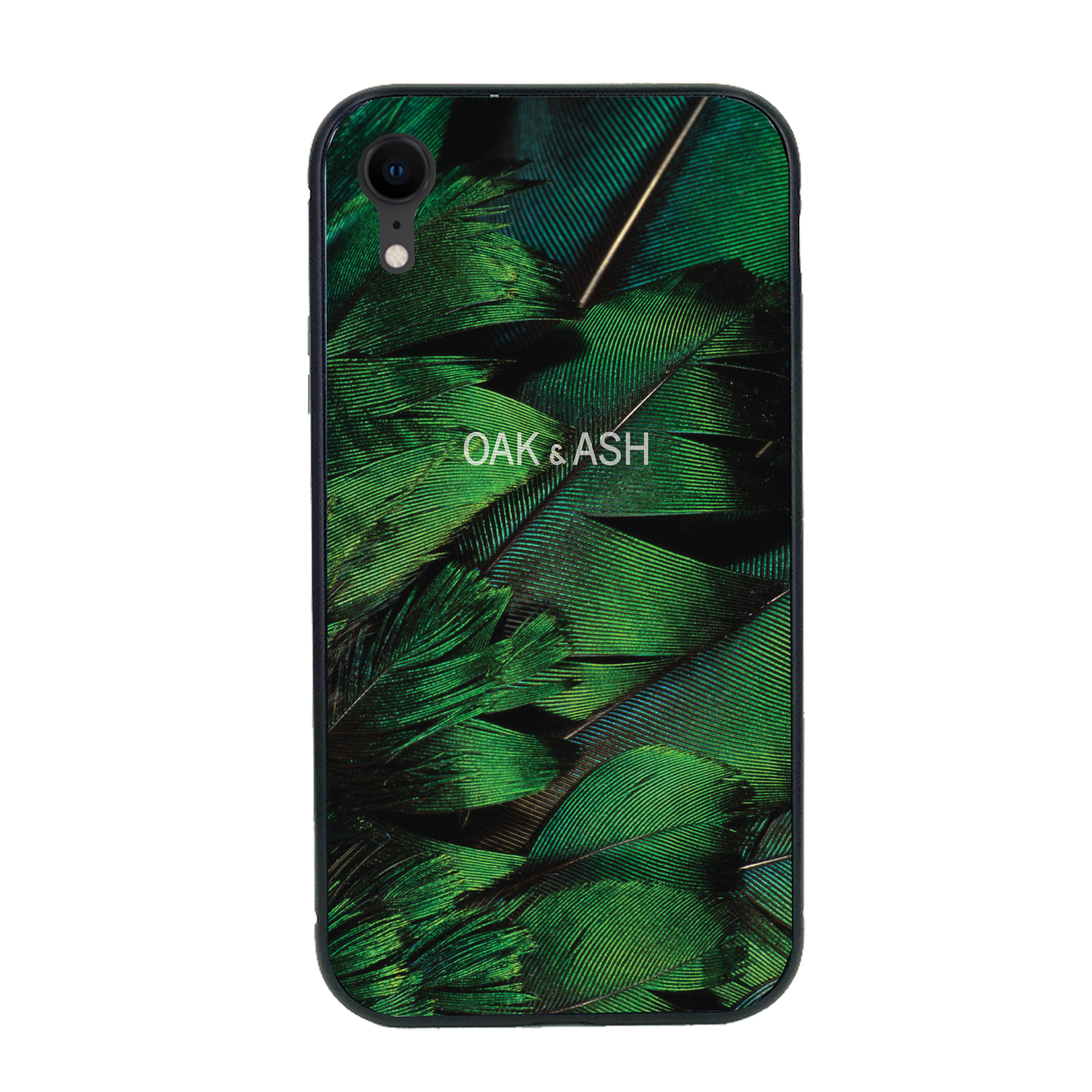 Green Feather | Phone Case for iPhone XR - OAK&ASH