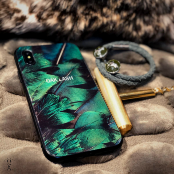 Green Feather | Phone Case for iPhone 11 Pro - OAK&ASH
