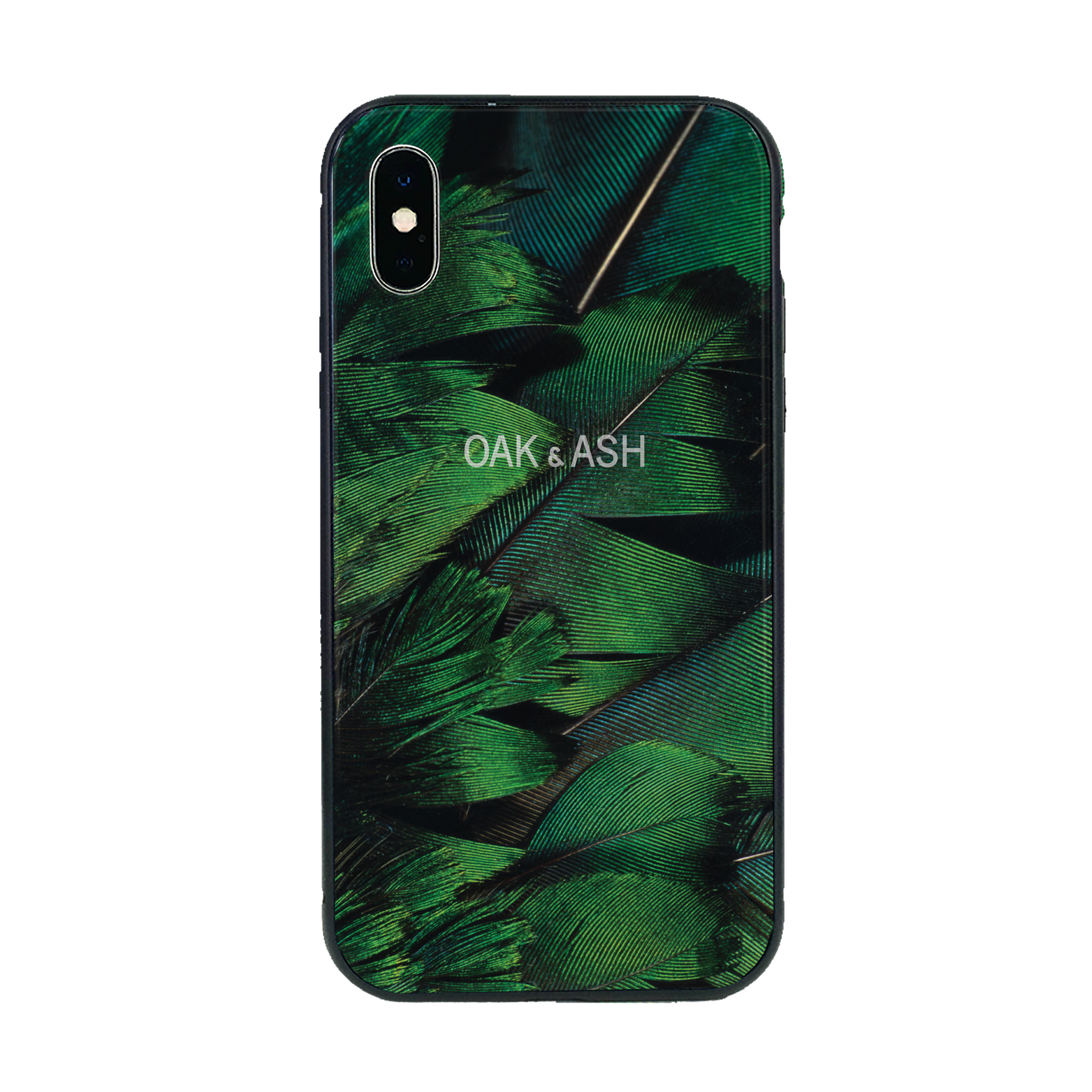 Green Feather | Phone Case for iPhone X/XS - OAK&ASH