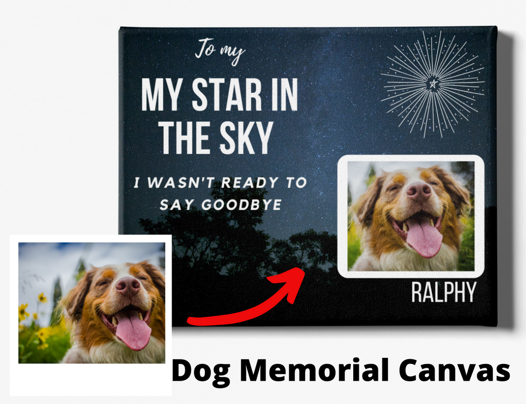 Dog Memorial Canvas #6