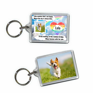 Dog Memorial Keyring #4