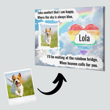 Load image into Gallery viewer, Dog Memorial Canvas #4