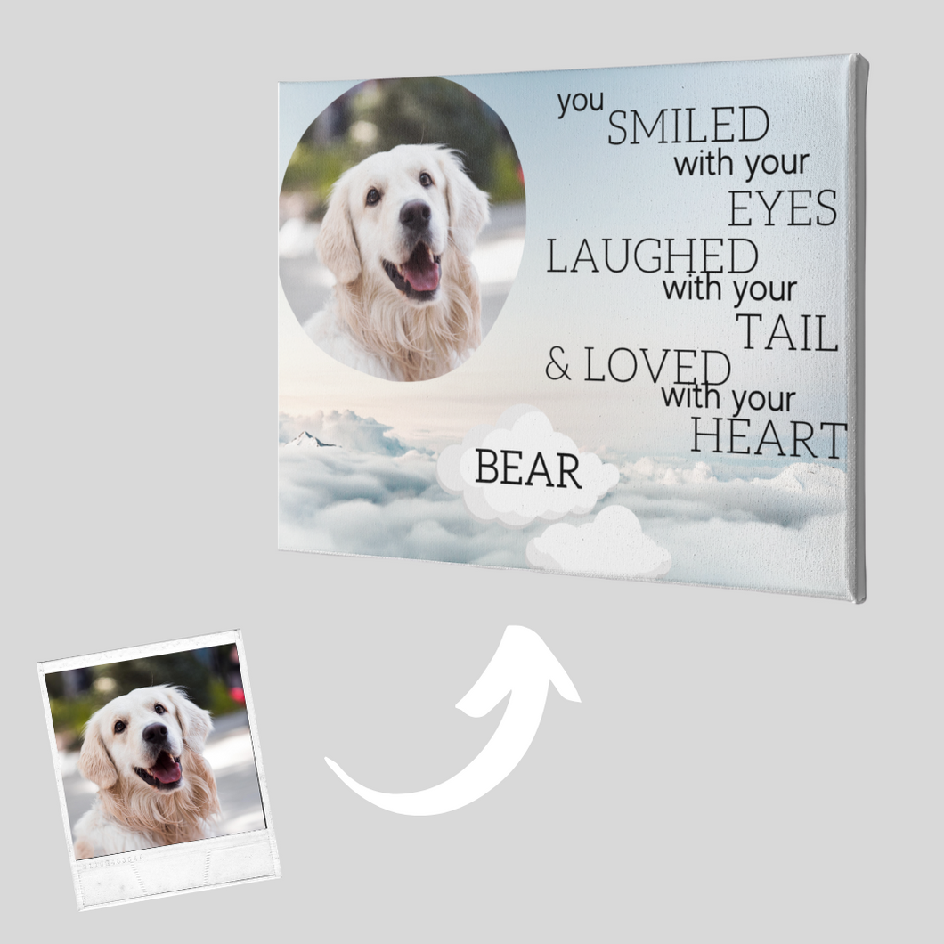 Buy a Custom Dog Memorial Canvas