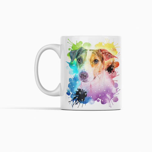Buy Colorful Rainbow Mug for Dog Lovers | Buy Colorful Rainbow Mug for Pet Lovers | Colorful Rainbow Dog Mugs for Sale Online | Memorial Gifts