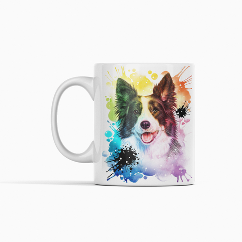 Buy Colorful Rainbow Dog Coffee Mug | Pet Memorial Gifts Online Store | Dog Memorial Gifts
