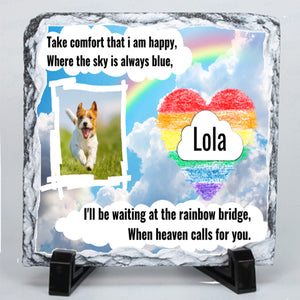Personalised Dog Memorial Photo Slate # 4