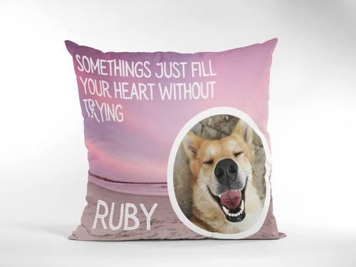 Dog Decorative Cushion Cover