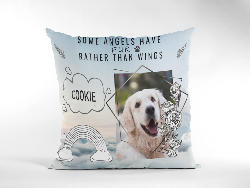 Personalized Dog Memorial Cushion Cover